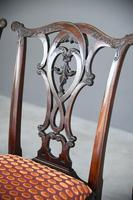 Set of 6 20th Century Mahogany Chippendale Style Dining Chair (6 of 13)
