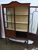 1900s Mahogany 2 Door China Cabinet with Dome Top (5 of 5)