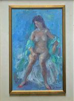 Original Vintage Antique Impressionist Erotica Nude Oil Portrait Painting (3 of 11)