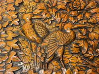 Chinese Camphor Wood Carved Birds & Flowers Chest Coffee Table (10 of 34)