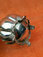 Antique Pumpkin Shaped Silver Plated Cream Jug c.1830 (6 of 8)