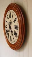 Rare 33 Inch Industrial Oak Wall Clock (7 of 10)