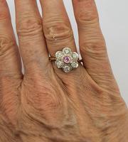 Pink Sapphire Diamond Cluster (2 of 2)