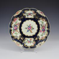 First Period Worcester Porcelain Blue Scale Junket Dish  c.1770 (4 of 7)