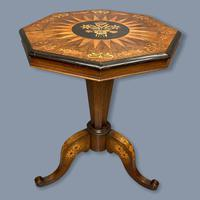 Rosewood Marquetry Sunburst Inlaid Side Table (2 of 7)