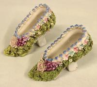 Antique Porcelain Pair of Shoes (3 of 5)