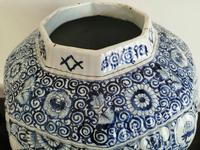 Imposing 19th Century Dutch Delft Blue & White Vase & Cover (7 of 15)