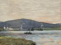 Andrew Gamley RSW - A Lochside Village Watercolour Painting (6 of 12)