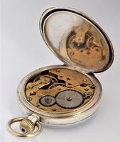 Antique Silver Stem Winding Pocket Watch 1919 (3 of 5)