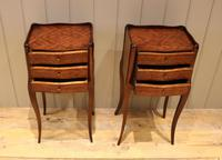 Pair of Mahogany Inlaid Bedside Cabinets (5 of 10)