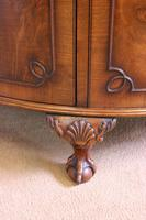 Figured Walnut Demi Lune Sideboard Side Cabinet (5 of 10)