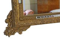 Antique Large Quality 19th Century Italian Gilt Wall Mirror Overmantle (5 of 8)