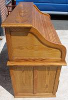 1960s Golden Oak Stype Rolltop Desk - Well Fitted (4 of 5)