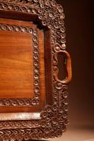 Two Colonial Very Fine Carved Wooden Trays (13 of 13)