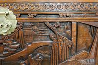 Oriental Carved Teak & Camphor Wood Chest - 1930s (10 of 15)