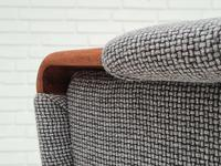 1960s, Restored Danish High-backed Armchair, Model Congo, Furniture Wool (12 of 13)