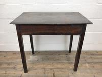 Antique Georgian Oak Side Table with Drawer (3 of 13)