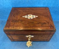 Victorian Walnut Jewellery Box c.1860