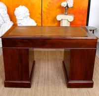 Mahogany Leather Desk 19th Century Victorian Kneehole Twin Pedestal (13 of 14)