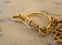 Vintage Pocket Watch 1940s Long 12ct Rolled Gold Snake Link Albert With Button Clip (11 of 12)