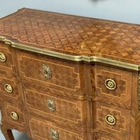 Small French kingwood parquetry chest of drawers (2 of 7)