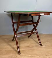 Antique Mahogany Folding Games Coaching Table (9 of 10)