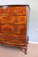 Antique Bow Front Figured Walnut Chest of Drawers (3 of 11)