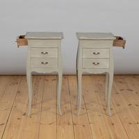 Pair of Large French Painted Bedside Cabinets (4 of 9)