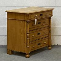 Waxed Old Pine Chest of Drawers c.1920 (2 of 4)