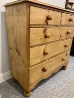 Antique Victorian Pine Chest of Drawers with Key (11 of 15)