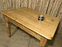Victorian Pine Kitchen Table c.1860 (2 of 8)