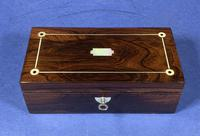 William IV Rosewood Glove Box  With Inlay (3 of 12)