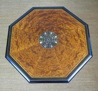 Outstanding Aesthetic Ebonised Birds Eye Maple & Gilt Bronze Table (9 of 10)