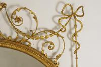19th Century Gilt Adam Style Overmantle Mirror (9 of 13)