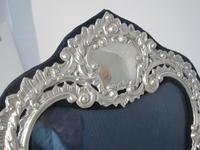Large Decorative Shaped Rectangular Victorian Silver Photo Frame (2 of 6)