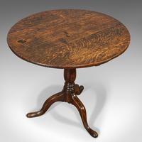 Antique Circular Table, English, Oak, Folding, Side, Occasional, Georgian, 1780 (8 of 9)