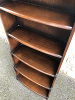 Slim Oak Domed Top Waterfall Open Bookcase (3 of 6)