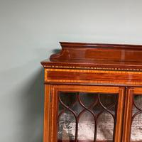 Superb Quality Victorian Inlaid Mahogany Antique Display Cabinet (4 of 7)