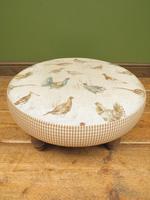Voyage Maison Round Footstool, Game Bird Fabric (7 of 17)
