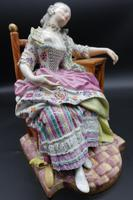 Fine Late 19th Century Meissen Model of a Seated Young Lady (2 of 4)