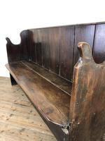Rustic Antique Country Oak Settle Bench (5 of 14)