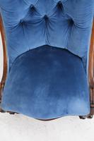 Victorian Button Back Walnut Slipper Chair (12 of 13)