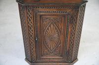 Antique Carved Oak Corner Cabinet (7 of 12)