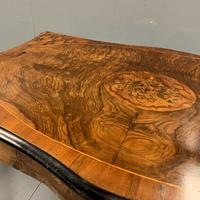 French Figured Walnut Bureau Plat Centre Table (5 of 7)