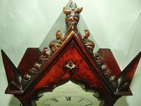 Regency Mahogany Gothic Bracket Clock (7 of 12)