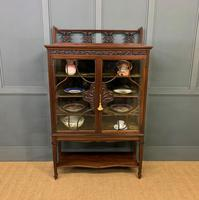 Carved Mahogany Display Cabinet (6 of 14)