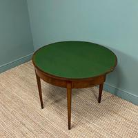 Stunning Demi Lune Mahogany Antique Card / Games Table (3 of 7)