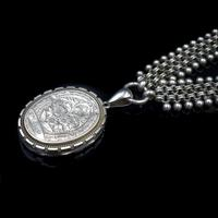 Antique Victorian Aesthetic Large Sterling Silver Locket and Collar Necklace (7 of 11)
