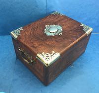 Victorian Brassbound Walnut Cigar Box (6 of 19)