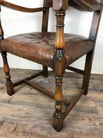 Set of Four Antique Leather Armchairs (9 of 16)